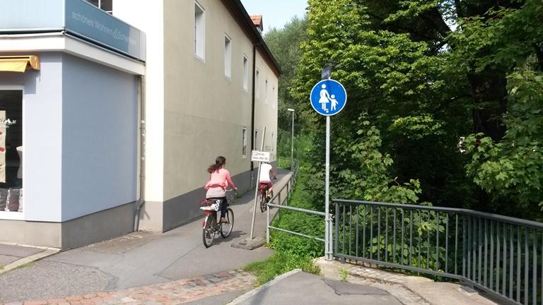 Konflikte mit dem Radverkehr am Kaitzbachweg